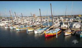 Drone footage from the port of Le Barcarés